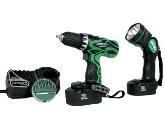 $177 off Hitachi DS18DVF3 18-Volt Cordless Driver Kit with Flashlight