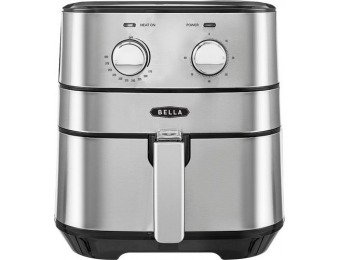 $50 off Bella 5.3-qt Analog Air Convection Fryer - Stainless Steel