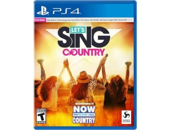 86% off Let's Sing Country - PlayStation 4