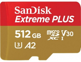 $130 off SanDisk Extreme PLUS 512GB microSDXC Memory Card