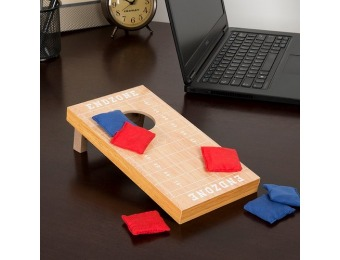 47% off Hey! Play! Tabletop Cornhole Game - Football Field Theme