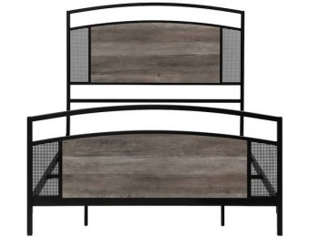 $160 off Walker Edison Industrial Queen-Size Mesh Bed - Gray Wash