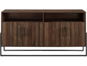 "$85 off Walker Edison TV Cabinet for Most TVs Up to 65"" - Dark Walnut"