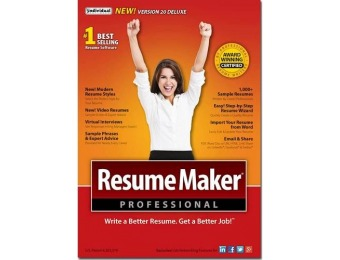 50% off ResumeMaker Professional Deluxe 20 - Windows