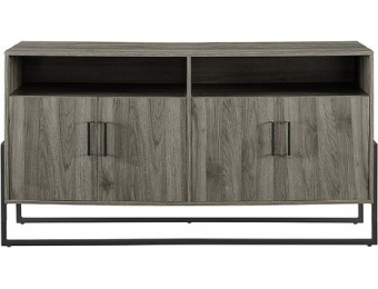 "$80 off Walker Edison TV Cabinet for Most TVs Up to 65"" - Slate Gray"