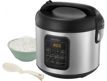 $24 off Insignia 20-Cup Rice Cooker and Steamer - Stainless Steel