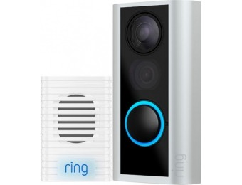 $130 off Ring Peephole with Chime - Satin Nickel