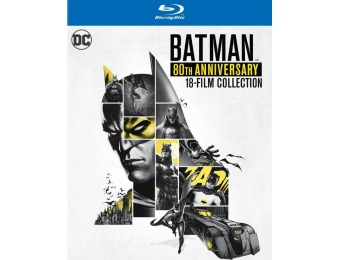 $40 off Batman: 80th Anniversary 18-Film Collection (Blu-ray)