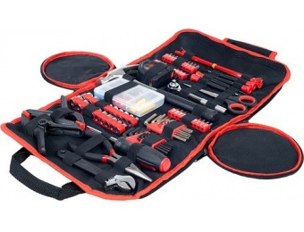 $10 off 86 Piece Hand Tool Kit with Roll Up Carry Case