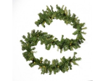 38% off 9-foot Mixed Spruce Pre-Lit LED Artificial Christmas Garland