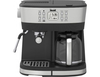 $105 off Bella Pro Combo 19-Bar Espresso and Drip Coffee Maker