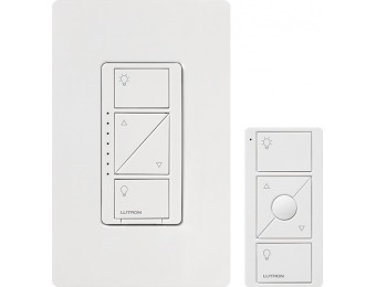 $15 off Lutron Caseta Wireless Smart Dimmer Switch and Remote Kit