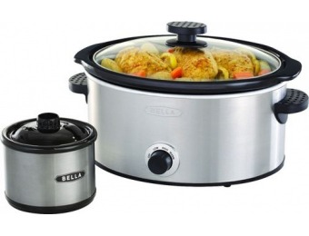 $20 off Bella 5-qt. Slow Cooker with Dipper