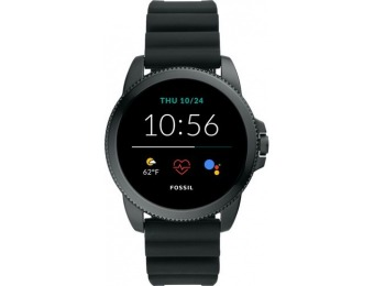 $100 off Fossil Gen 5e Smartwatch 44mm Silicone - Black
