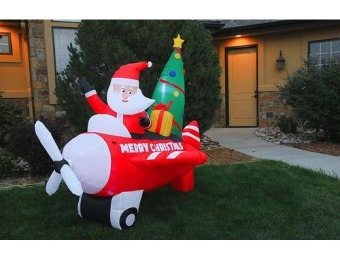 $22 off 8' Inflatable Santa in Airplane