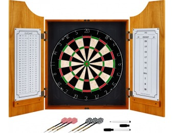 $25 off Trademark Games Solid Wood Pro Style Dart Cabinet Set
