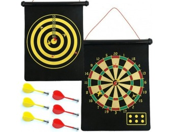 $10 off Magnetic Roll-up Dart Board and Bullseye Game w/ Darts