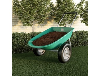 $25 off 2-Wheeled Large Capacity Garden Wheelbarrow