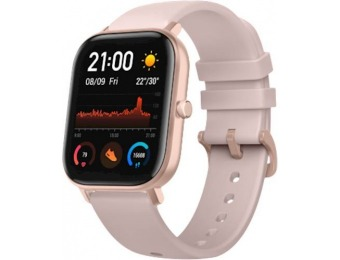$40 off Amazfit GTS Smartwatch 42mm Aluminum - Rose Pink