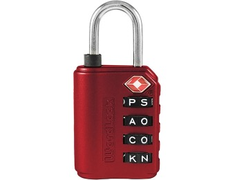 52% off Wordlock 4-Dial TSA Approved Luggage Lock