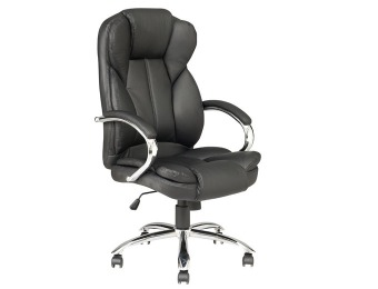 $135 off Black PU Leather Computer Chair w/Metal Base O18