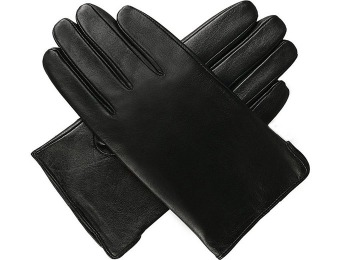 $65 off Luxury Lane Cashmere Lined Lambskin Leather Gloves