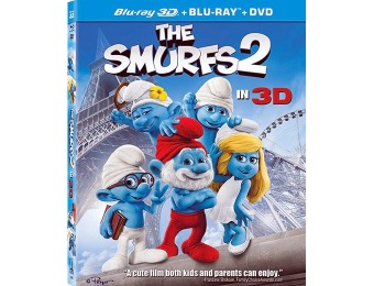 68% off The Smurfs 2 (Blu-ray 3D + Blu-Ray + DVD + Digital)