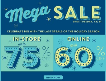 Old Navy Mega Sale - Up to 75% off In-Store, 60% off Online