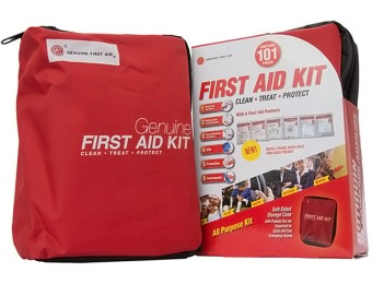 57% off Genuine First Aid 101-Pc Soft Sided First Aid Kit
