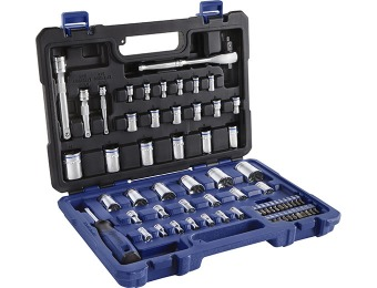 71% off Kobalt 64-Pc SAE/Metric Mechanic's Tool Set with Case