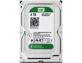 "$95 off Western Digital 4TB WD Green 3.5"" Hard Drive WD40EZRX"