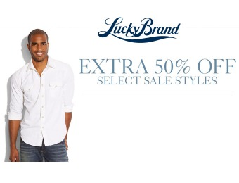 Extra 50% off Select Styles at Lucky Brand