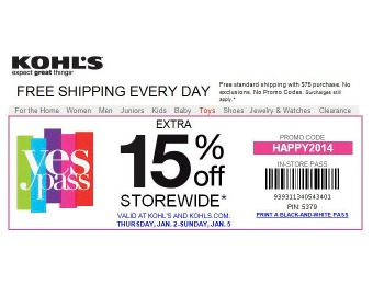 Extra 15% off Storewide at Kohl's