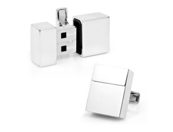 $60 off Stainless Steel 4GB USB Flash Drive Cufflinks