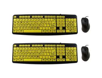 $30 off 2-Pack High Contrast EZ Keyboard with 2 Mice