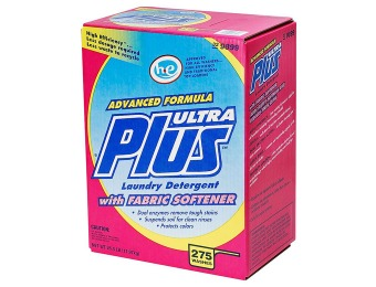 50% off Ultra Plus Powder Laundry Detergent w/ Fabric Softener