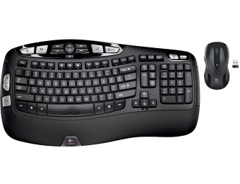 55% off Logitech Wireless Wave MK550 Keyboard and Mouse Combo
