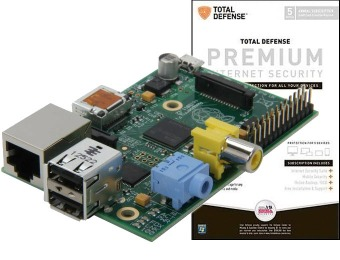 77% off Raspberry Pi Model B + Total Defense Internet Security