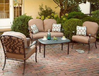 50% off Hampton Bay Edington 4-Pc Patio Seating Set
