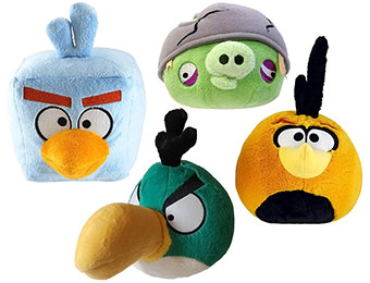 50% off Angry Birds 5 Inch Plush Toys (25 bird/pig choices)