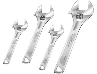 74% off Husky 4-Pc Double-Speed Adjustable Wrench Set