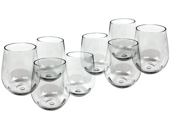 42% off D'Eco Shatterproof Stemless Wine Glasses