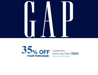 Extra 35% off Your Entire Purchase at Gap.com