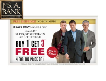 Buy 1, Get 3 Free Sportcoats, Suits & Outerwear at Jos. A. Bank