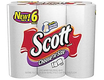 43% off Scott Choose-A-Size Paper Towels (6 Roll/Pack)