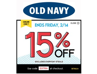Extra 15% off Your Online Purchase at Old Navy