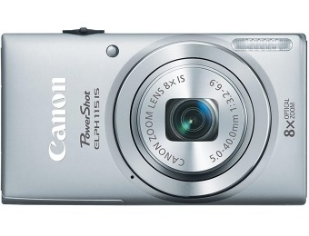 $70 off Canon PowerShot ELPH 115 IS 16.0-Mp Digital Camera, 4 Colors
