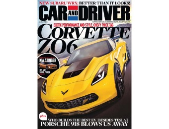 90% off Car and Driver Magazine Subscription, $4.99 / 12 Issues