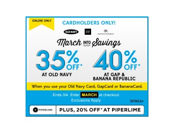 35% off at Old Navy When You Use Your Old Navy Card