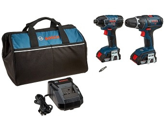 79% off Bosch CLPK232-181 18-Volt Lithium-Ion 2-Tool Combo Kit